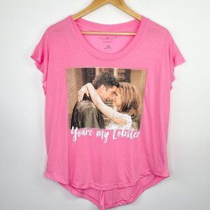 Friends Pink You're My Lobster Graphic T-Shirt L